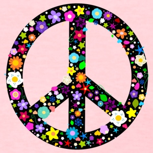 Floral Peace Sign Women's T-Shirts - Women's T-Shirt
