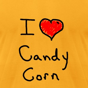 i love halloween candy corn - Men's T-Shirt by American Apparel
