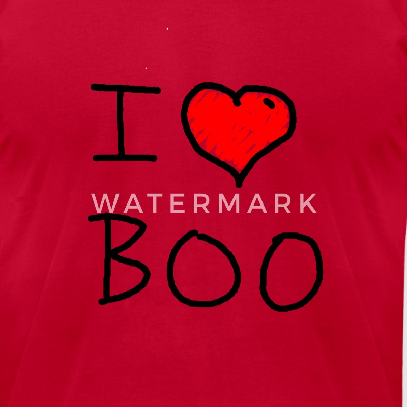 i love halloween boo - Men's T-Shirt by American Apparel