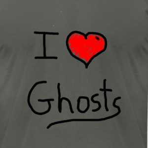 i love halloween ghosts - Men's T-Shirt by American Apparel