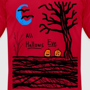 halloween jack o lantern all hallows eve - Men's T-Shirt by American Apparel
