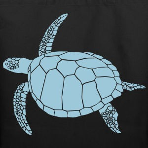 sea turtle scuba diving coral reef Bags  - Eco-Friendly Cotton Tote