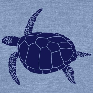 sea turtle scuba diving coral reef T-Shirts - Unisex Tri-Blend T-Shirt