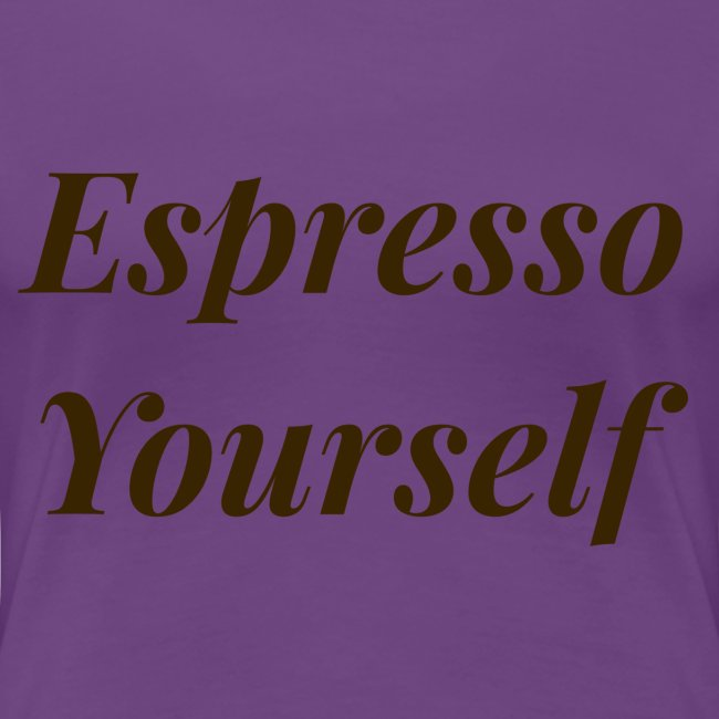 Brown Espresso Yourself Tee