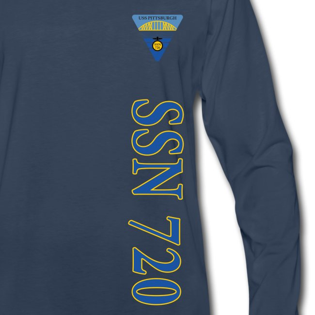 USS PITTSBURGH SSN-720 VERTICAL STRIPE LONG SLEEVE