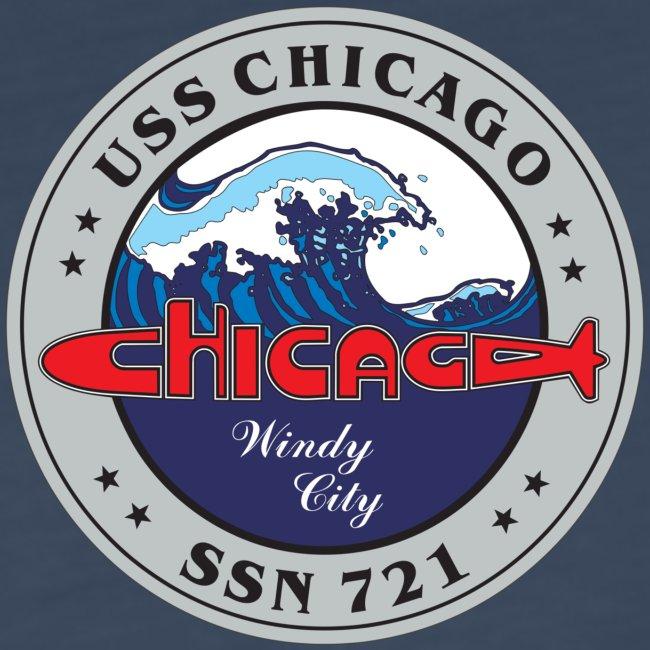 USS CHICAGO SSN-721 LONG SLEEVE - WOMENS