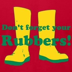 Don't forget your rubbers! T-Shirts - Men's T-Shirt by American Apparel