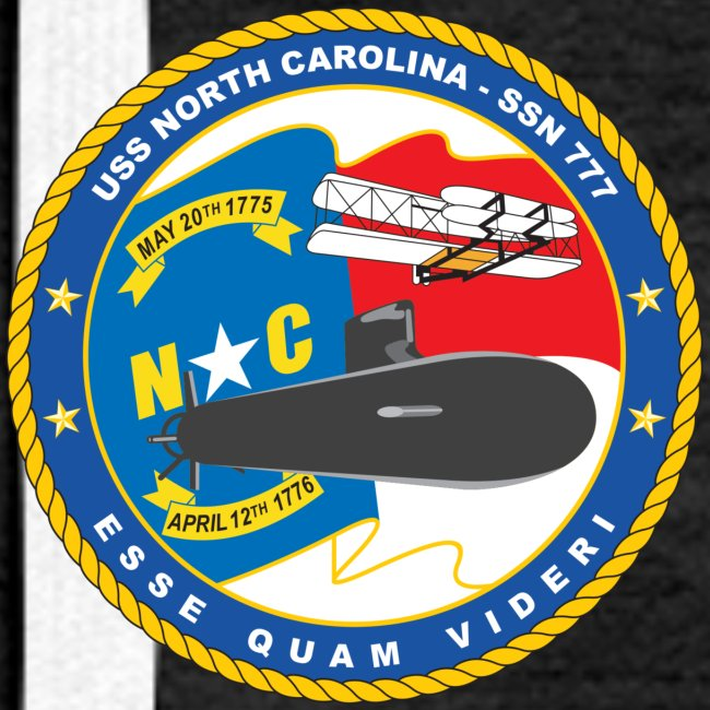 USS NORTH CAROLINA SSN-777 HOODIE - WOMENS