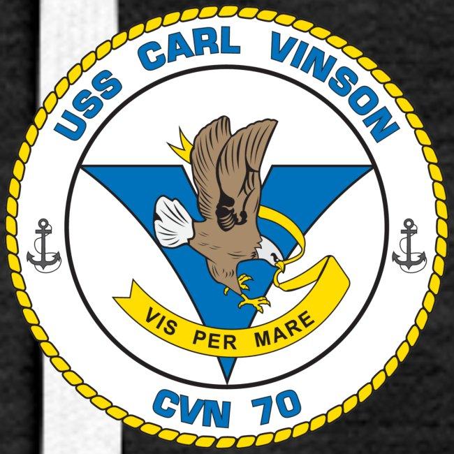 USS CARL VINSON CVN-70 HOODIE - WOMENS