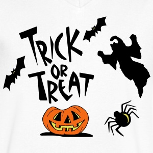 TRICK OR TREAT T-Shirts - Men's V-Neck T-Shirt by Canvas