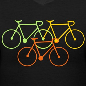 bike singlespeed fixie bycicle Women's T-Shirts - Women's V-Neck T-Shirt