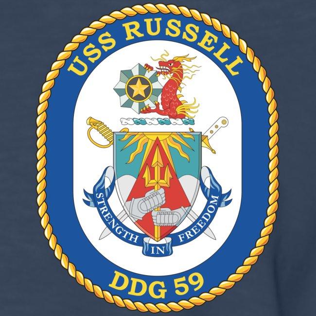 USS RUSSELL DDG-59 LONG SLEEVE