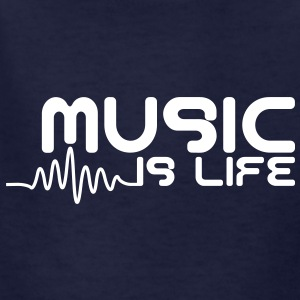 Music is life with pulse Kids' Shirts - Kids' T-Shirt
