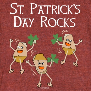 St. Patrick's Day Rocks T-Shirts - Unisex Tri-Blend T-Shirt by American Apparel