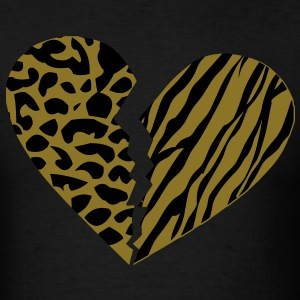 Broken Cheebra Heart T-Shirts - Men's T-Shirt