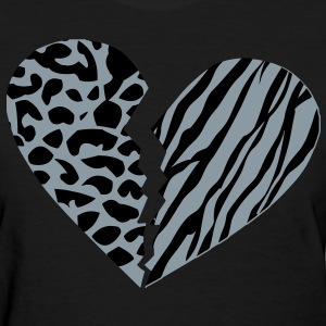 Broken Cheebra Heart Women's T-Shirts - Women's T-Shirt