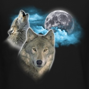 Wolves Moon 2 Long Sleeve Shirts - Crewneck Sweatshirt