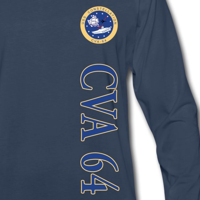 USS CONSTELLATION CVA-64 VERTICAL STRIPE LONG SLEEVE