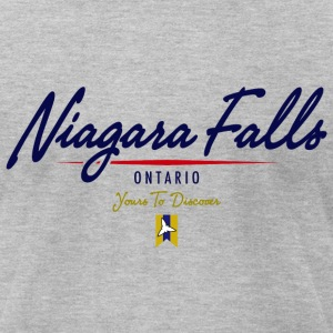 Niagara Falls Script American Apparel Tshirt - Men's T-Shirt by American Apparel
