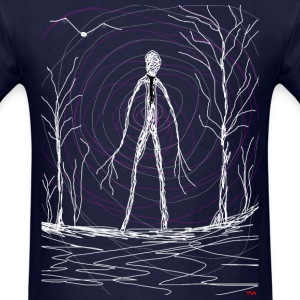 creepy slender man  T-Shirts - Men's T-Shirt