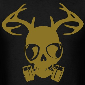 Gas Mask Skull with Horns T-Shirts - Men's T-Shirt