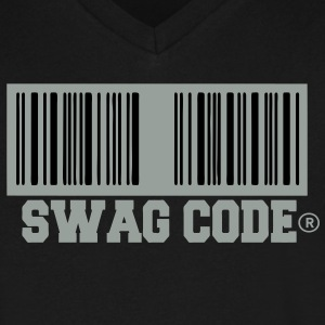 SWAG CODE T-Shirts - Men's V-Neck T-Shirt by Canvas