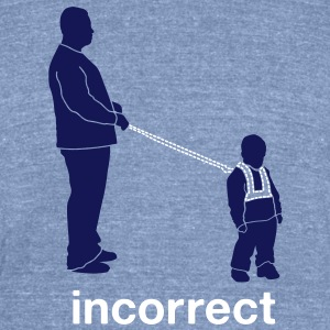 Incorrect: Child Leash T-Shirts - Unisex Tri-Blend T-Shirt by American Apparel