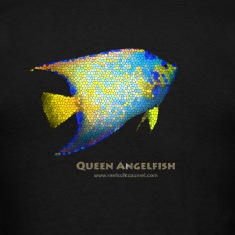 Queen Angelfish Stained Glass