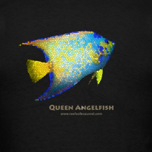 Queen Angelfish Stained Glass - Men's T-Shirt