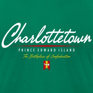 Charlottetown Script American Apparel T-Shirt - Men's T-Shirt by American Apparel