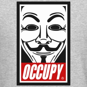 Occupy Anonymous Mask Long Sleeve Shirts - Crewneck Sweatshirt
