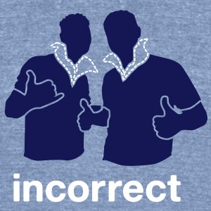 Incorrect: Popped Collars T-Shirts - Unisex Tri-Blend T-Shirt by American Apparel
