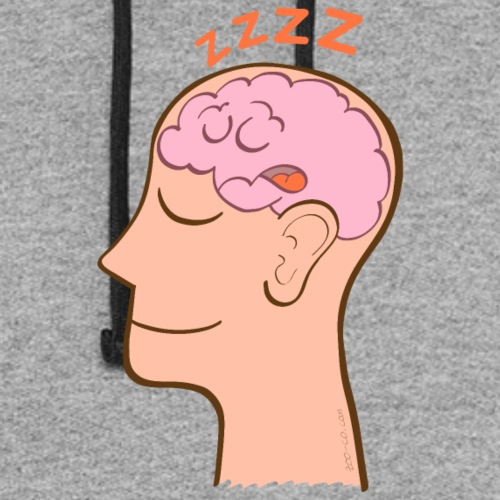 Meditator's brain sleeping and snoring