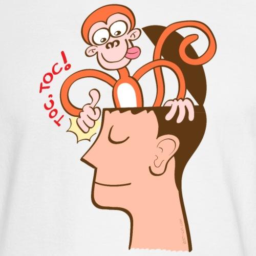 Monkey mind knocking meditator's head