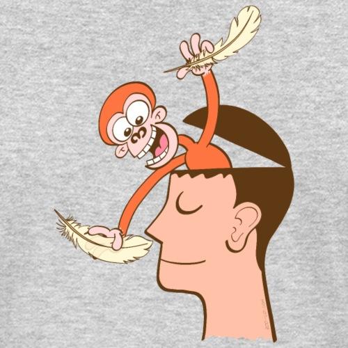 Monkey mind tickling meditator's nose
