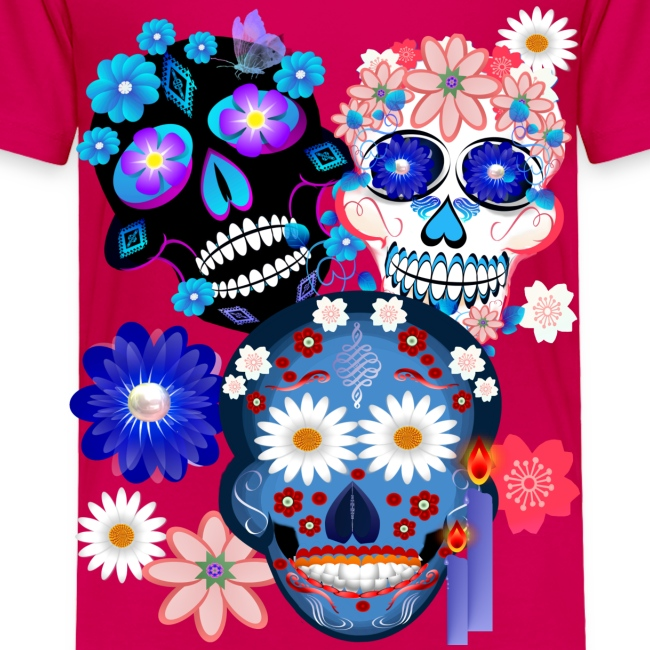 Day Of The Dead-3 Skulls