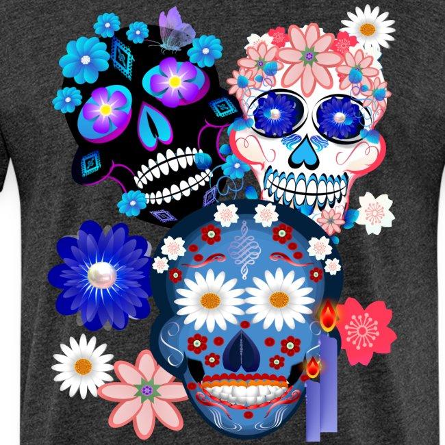 Day Of The Dead-3 Skulls