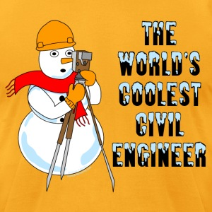 Coolest Civil Engineer T-Shirts - Men's T-Shirt by American Apparel