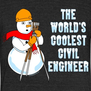 Coolest Civil Engineer T-Shirts - Unisex Tri-Blend T-Shirt by American Apparel