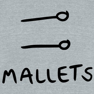 mallets T-Shirts - Unisex Tri-Blend T-Shirt by American Apparel