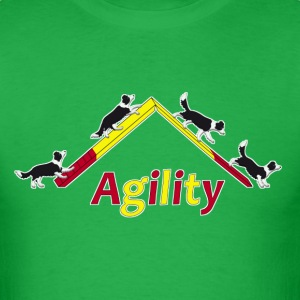 agility border collie 4 T-Shirts - Men's T-Shirt