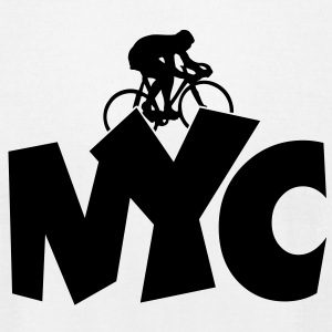NYC Cycling T-Shirt - Men's T-Shirt by American Apparel