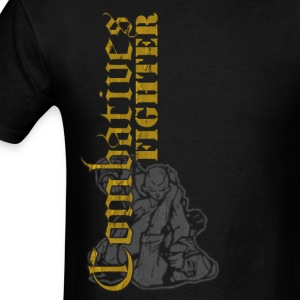Combatives Fighter Distressed Design T-Shirts - Men's T-Shirt