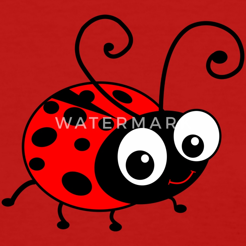 Cute Happy Ladybug Women's T-Shirts - Women's T-Shirt
