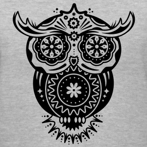 Owl in the style of Sugar Skulls Women's T-Shirts - Women's V-Neck T-Shirt