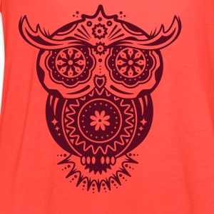 Owl in the style of Sugar Skulls Tanks - Women's Flowy Tank Top by Bella