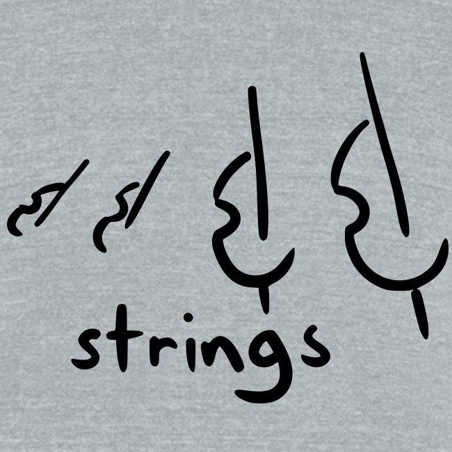 strings (grey tri-blend)