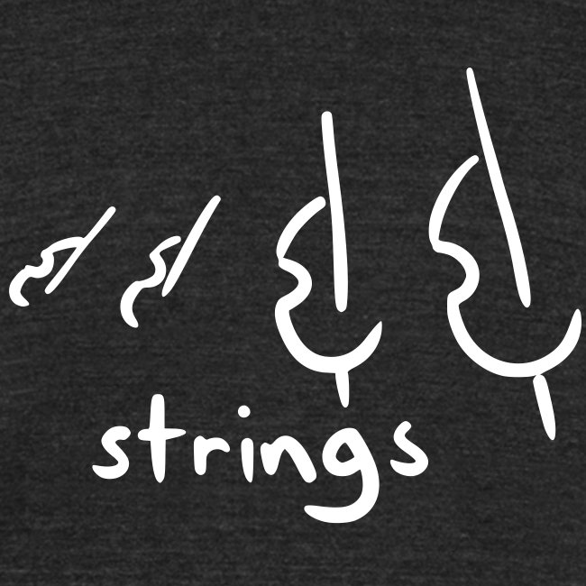 strings (black tri-blend)