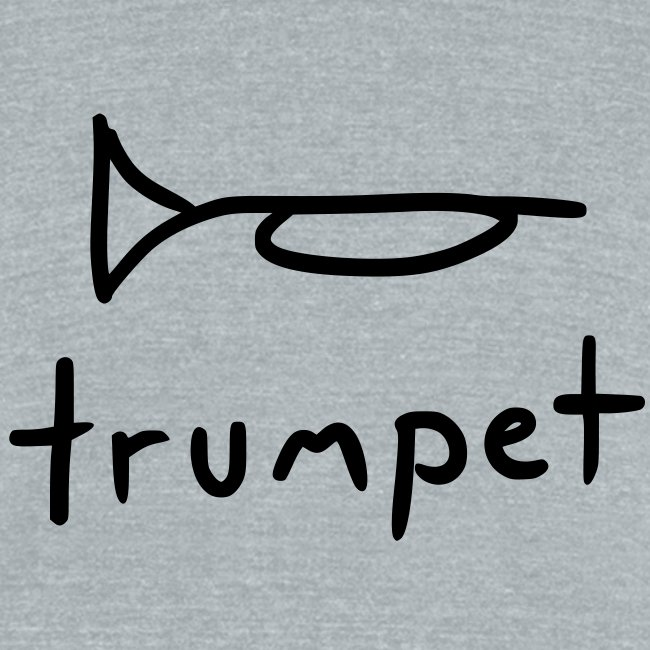 trumpet (grey tri-blend)