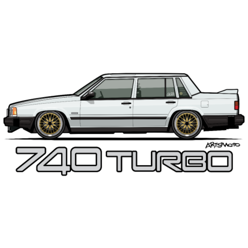 740 744 Turbo Sedan Badge White